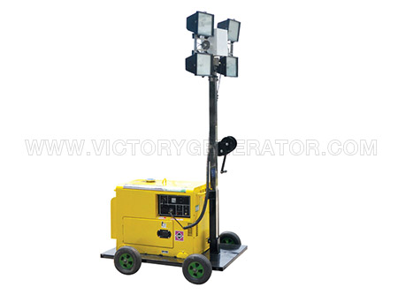 4.2KW~22KW Mobile Light Tower Diesel Generator Set