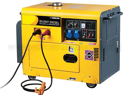 4.5KW~5.5KW Silent Diesel Welding Generator